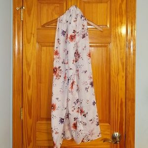 H&M pink floral scarf